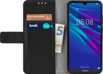 Just in Case Wallet Huawei Y6 (2019) Book Case Zwart
