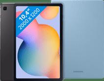 Samsung Galaxy Tab S6 Lite 128GB Wifi Grijs + Samsung Book Case Blauw