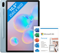 Samsung Galaxy Tab S6 128GB WiFi Blauw + Microsoft Office 365