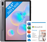 Samsung Galaxy Tab S6 128GB Wifi + 4G Grijs + Microsoft Office 365