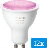 Philips Hue White and Color GU10 Bluetooth Lot de 12