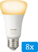 Philips Hue White Ambiance E27 Bluetooth 8-Pack