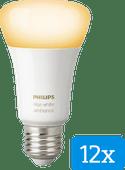 Philips Hue White Ambiance E27 Bluetooth Lot de 12