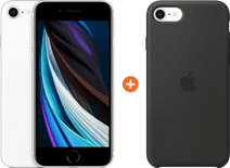 Apple iPhone SE 2 64GB White + Apple iPhone SE Silicone Back Cover Black