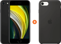Apple iPhone SE 2 256GB Black + Apple iPhone SE Silicone Back Cover Black