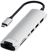 Satechi Type C Slim Multi-port Ethernet Adapter Zilver