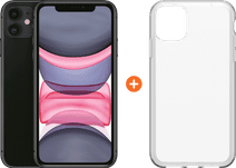 Apple iPhone 11 64 GB Zwart + Otterbox Clearly Protected Skin Alpha Glass