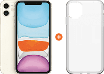 Apple iPhone 11 64 Go Blanc + Otterbox Clearly Protected Skin Alpha Glass