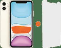 Apple iPhone 11 128 Go Blanc + InvisibleShield Glass Elite Vision+ Protège-écran