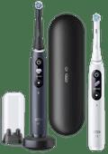 Oral-B iO - 8n - Brosses à Dents Électriques Blanc et Noir, Lot de 2