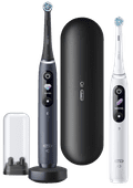 Oral-B iO - 8n - Elektrische Tandenborstels Wit En Zwart, Duopack