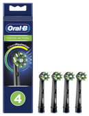 Oral-B CrossAction Black Edition Opzetborstel 4 Stuks