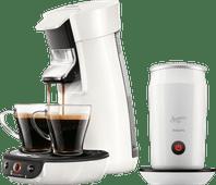 Philips Senseo Viva Café HD6563/00 White + Milk Frother
