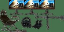 3x AOC 27G2U + NewStar FPMA-D550D3 + PlaySeat Challenge + Hori Apex Racestuur