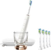 Philips Sonicare DiamondClean 9000 HX9911/94 + Optimal White Standaard HX6064/11 (4 stuks)