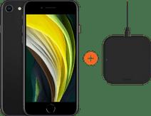 Apple iPhone SE 64 GB Zwart + ZENS Slim Line Draadloze Oplader