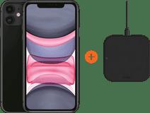 Apple iPhone 11 128 GB Zwart + ZENS Slim Line Draadloze Oplader