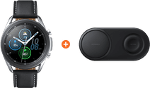 Samsung Galaxy Watch3 Silver 45mm + Samsung Wireless Charger DUO Pad Black