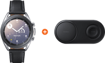 Samsung Galaxy Watch3 Silver 41mm + Samsung Wireless Charger DUO Pad Black