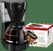 Melitta Easy II Zwart + Scanpart Permanent Filter Best geteste koffiezetapparaat
