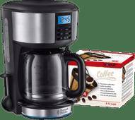 Russell Hobbs Buckingham Silver Coffee Machine + Scanpart Permanent Filter