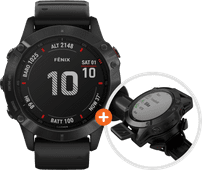Garmin Fenix 6X Pro - Black - 51mm + Garmin Fenix 6 Quickfit Bike Mount