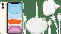 Apple iPhone 11 128 GB Wit + Accessoirepakket Totaal