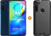 Motorola Moto G8 Power 64GB Blue + Tech21 Studio Color Back Cover Black