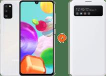 Samsung Galaxy A41 64 Go Blanc + Samsung Galaxy A41 S View Book Case Blanc