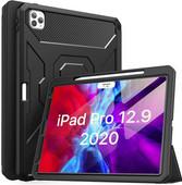 Just in Case Heavy Duty Apple iPad Pro 12,9 pouces (2020) Coque Intégrale Noir