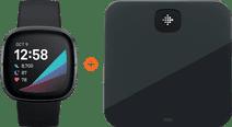 Fitbit Sense Grijs + Fitbit Aria Air Zwart