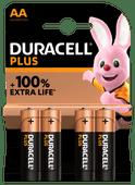 Duracell Alka Plus AA-batterijen 4 stuks