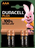 Duracell Alka Plus AAA-batterijen 4 stuks