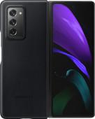 Samsung Galaxy Z Fold2 Back Cover Leer Zwart
