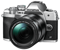 Olympus OM-D E-M10 Mark IV Argent + 14-150 mm f/4.0-5.6 II Noir