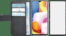 Azuri Wallet Samsung Galaxy A71 Book Case Zwart + Case Friendly Screenprotector Glas