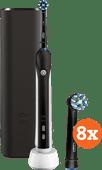 Oral-b Pro 2 2500 zwart + Cross Action opzetborstels (8 stuks)