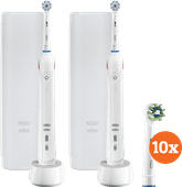 Oral-B PRO 2 2500 Duo Pack wit + Cross Action opzetborstels (10 stuks)