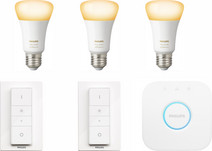 Philips Hue White Ambiance Starter 3-Pack E27 + 2 dimmers