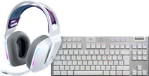 Logitech G733 LIGHTSPEED Wireless Gaming Headset Wit + Logitech G915 Gaming toetsenbord