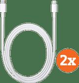 Apple Lightning naar Usb C Kabel 1m Duopack