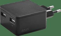 Azuri Oplader zonder Kabel 2 Usb Poorten 12W Zwart