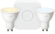 Philips Hue White Ambiance GU10 Bluetooth Kit de démarrage Lot de 2