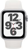 Apple Watch SE 40 mm Aluminium Argent Bracelet Sport Blanc