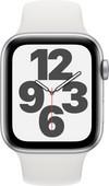 Apple Watch SE 44 mm Aluminium Argent Bracelet Sport Blanc