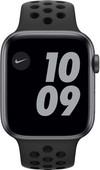 Apple Watch Nike Series 6 44mm Space Gray Aluminium Zwarte Sportband