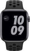 Apple Watch Nike SE 44 mm Aluminium Gris Sidéral Bracelet Sport Noir