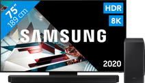 Samsung QLED 8K 75Q800T + soundbar
