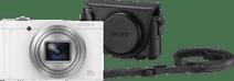 Sony CyberShot DSC-WX500 Wit + LCJ-HWA Camerahoes