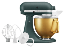 KitchenAid 5KSM156VGEPP Pebbled palm + gouden kom